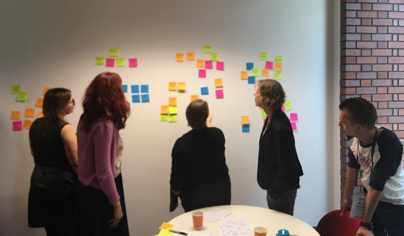 Photograph of the group activity at the UXLibsIV conference 2018